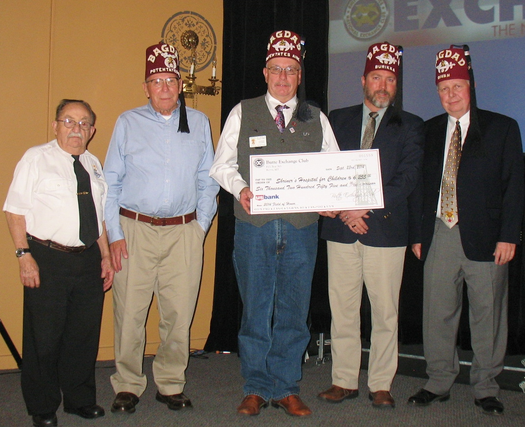 Club member Art Hruska and fellow Shriners