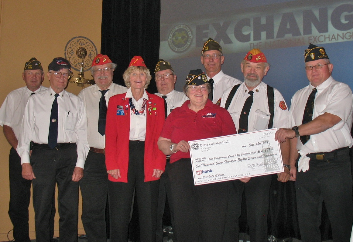 Members of the United Veterans Council and Women's Auxiliary